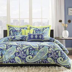 Intelligent Design Melissa Comforter Set Size: Twin / Twin XL, Color: Blue / Green