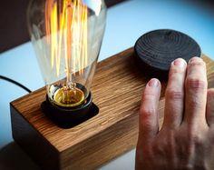 lampe variateur Edison bloc #71 à la main. naturel. respectueux de l'environnement. lampe à variateur. variateur lampe edison. lampe rétro. lampe en bois. lampe en bois. lampe de bureau