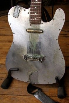 From Specimen Products - Their Bolt-on neck and bolt-together Aluminum body - The Tar Guitar (also available as a bass)