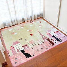 Tidetex Simple Fashion Pink Baby Play Rugs Kids Rug S Bedroom Playroom Mat Livingroom Carpet Washable Non Slip Floor Kindergarten