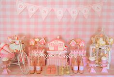 Sweet table, candybar in pink
