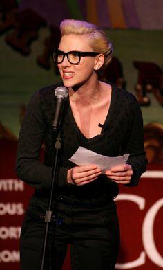 Pin for Later: 69 Celebs With Serious Specs Appeal Scarlett Johansson Scarlett Johansson, Jenna Lyons, Star Wars, Four Eyes, Wearing Glasses, Signature Look, Eyeglasses For Women, Celebs, Celebrities