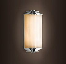 "Restoration Hardware Meridian Demi Sconce, mounted horizontally. Comes in 11"" and 15""."