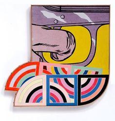 Richard Pettibone, Frank Stella, Yozd II, (two times); and Roy Lichtenstein, Trigger Finger, 1963, 1969.