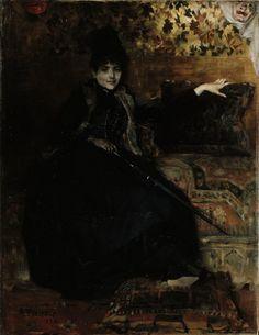 Albert Edelfelt - Lady in Black seated (Thérèse noire) 1886
