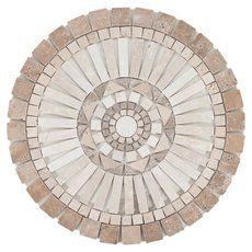 Product Details This Siena Decorative Medallion is a 24 x 24 round medallion with a beautiful textured finish. Mosaic Wall Art, Mosaic Diy, Mosaic Tiles, Pebble Mosaic, Mosaic Crafts, Tile Art, Mosaic Designs, Mosaic Patterns, Floor Patterns