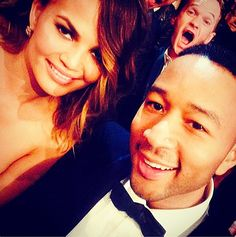 With every NPH photobomb, you get seven years of good luck. (Neil Patrick Harris, Krissy Teigen, John Legend ...