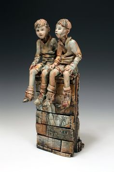 Streetlife 1 - Annie Peaker Contemporary Figurative Ceramics / http://www.anniepeaker.co.uk