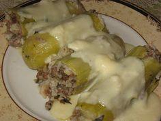 Kalofagas - Greek Food & Beyond by Peter Minakis: Stuffed Courgettes ( Kolokithakia Gemista) With Avgolemeno Sauce