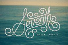 Seventh St. Surf Shop logo #monoweight #script