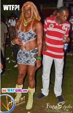 """Fashion Fail: Who's Uncle Is This?.....I dont think this """"dress"""" even looks good on females...."""