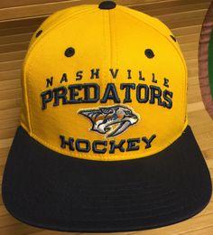 Nashville Predators Hockey Reebok Adjustable Snapback Cap by  CoryCranksOutHats… Predators Hockey e1544b1f2bce