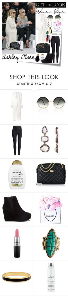 """Ashley Olsen's Style"" by annacc ❤ liked on Polyvore featuring Post-It, Olsen, Sabine Luise, Cutler and Gross, H&M, BaubleBar, Organix, Chanel, MAC Cosmetics and Sol Sana"