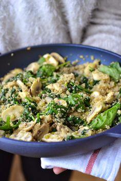 La Cuisine c'est simple: Simple comme une poêlée de champignons et épinards au quinoa