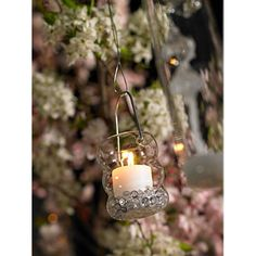 Glass Hanging Tealight Candle Holder