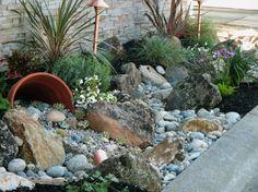 Die 61 besten Bilder auf Gartengestaltung mit steinen | Gartenmauern ...