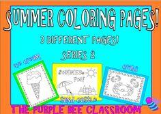 Perfect for end of the year fun activities!Thanks for looking!SUMMER FUN Coloring Pages, Series 2-3 different pages to color!You may print as many of these as you would like for personal/classroom use!Sailboat, sun, and beach fun!If you like this product, please check out my other similar…