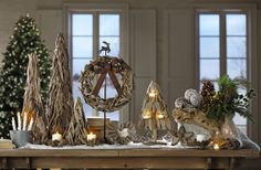 Rustic driftwood brings texture to the holidays. #HomeDecorators #Holidays