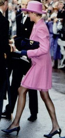 June 14, 1993:  Princess Diana at the Order of the Garter Ceremony in London.