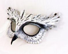 White Owl Leather Mask.