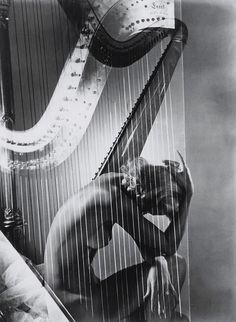Horst P. Horst - Lisa with Harp, Paris, 1939.