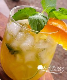Zesty Orange Mojito | Rum Therapy | Tropical Travel Guide