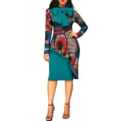 Africa style Long Sleeve ankara Traditional Cotton Print Dresses Africa style Long Sleeve ankara Traditional Cotton Print Dresses – DRESS THE LADIES African Dresses For Kids, Latest African Fashion Dresses, African Print Dresses, African Print Fashion, Africa Fashion, Dress Fashion, African Attire, African Wear, Africa Dress