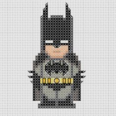 Cross stitch DC Comics Justice League Batman.