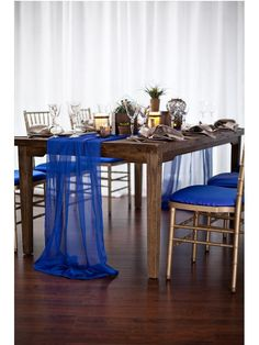 Royal Blue Party and Wedding Decor