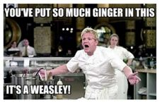 #funnt #Chef dont put too much ginger please it's weasley #food #cook #recipe
