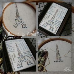 Eiffel Tower ABC designed and stitched by Chez Elisa