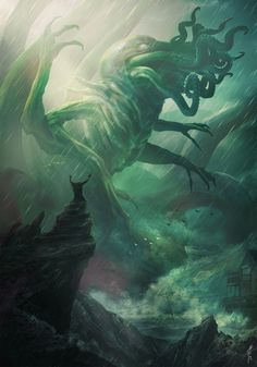 Weird, horror and fantastic: pages and news from this and other worlds. Art Cthulhu, Lovecraft Cthulhu, Call Of Cthulhu, Hp Lovecraft, Cthulhu Tattoo, Myths & Monsters, Sea Monsters, Eldritch Horror, Lovecraftian Horror