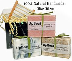 Natural Soap Bar Gift Set 3 Handmade Organic Olive Oil Soaps with Coconut Oil Activated Charcoal Soap PurifiesCoffee Soap ExfoliatesMoisturizing Rose Herbal Soap CleansesGreat Gift Idea for All -- Find out more about the great product at the image link.