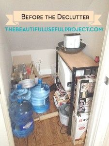 Declutter Project: Under The Stairs Closet