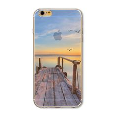 For Apple iPhone Wood Like Painted Personalised Soft TPU Unipue Case Cover Iphone 5s, Apple Iphone, Iphone Cases, Cell Phone Covers, Modern City, Iphone Models, 6s Plus, Cell Phone Accessories, Ocean