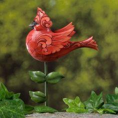 Cardinal Garden Stake