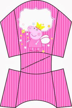 Fiesta de Peppa Pig Hada: Cajas para Imprimir Gratis. Molde Peppa Pig, Peppa Pig Princesa, Cumple Peppa Pig, Peppa Pig Birthday Cake, 3rd Birthday, Birthday Decorations, Birthday Party Themes, Invitacion Peppa Pig, Peppa Pig Printables