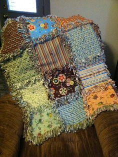 I want to try to make one of these -  rag quilt