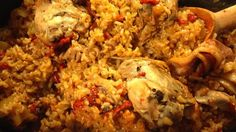 Arroz con Pollo Pretty good, could use some cayenne pepper in my opinion. Could not find the saffron threads so I omitted them.