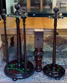Two fully restored antique snooker billiard cue racks | Browns Antiques Billiards and Interiors. Wish I had one of these ❤️