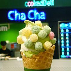 .@Harbour City   Get a little crunch alongside the smooth #matcha soft-serve at Sweets House C...   Webstagram