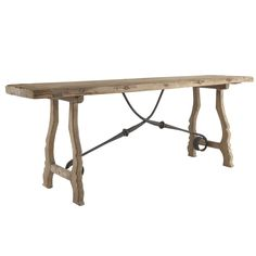 Rustic Trestle Console Table  (too big but custom and paint)