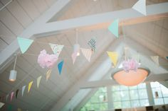 Fun and colorful bunting | Julie and Richard | It Takes Two Events