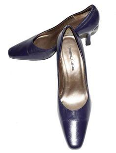 "Bellini ""Chantily"" Dark Purple with Gold Lining Leather High Heel Pumps Size 9 M #Bellini #PumpsClassics #WeartoWork"