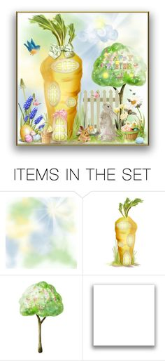 """Easter Rabbit Hutch Contest"" by theonly-queenregina ❤ liked on Polyvore featuring art"