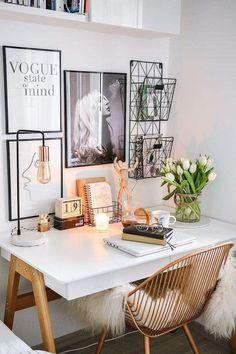Cozy Home Office, Home Office Space, Home Office Design, Home Office Decor, Home Decor, Desk Office, Home Office Table, Interior Office, Office Storage