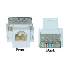 RJ11 / RJ12 Toolless Keystone Jack, White - http://www.audiovideocabledeals.com/adapters/adapter-audiovideo-keystone-jacks/rj11-rj12-toolless-keystone-jack-white/