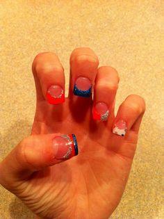 my nails bronco colors - Denver Bronco Colors