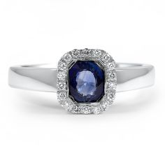 Modern Sapphire Vintage Ring | Karanda | Brilliant Earth