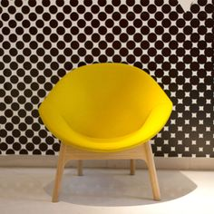 The Lily chair by Michael Sodeau in bright yellow | Milan 2014: EDIT by designjunction Exhibition - Design Milk